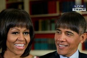 奥巴马白宫晚宴幽默演讲 PS刘海照引爆全场