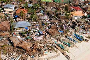 超强台风海燕或致菲律宾万人亡 威力堪比海啸