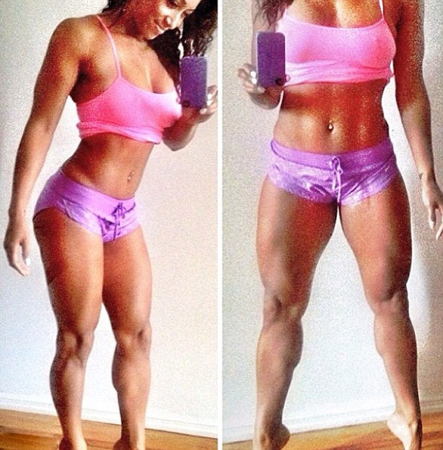 高清:健身美女晒性感肌肉