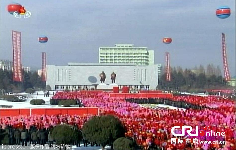 朝鲜为金日成金正日铜像揭幕(组图)