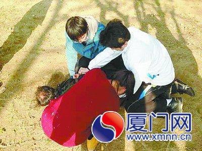 游客晒太阳手机被偷 保安和学生合力擒贼(图)
