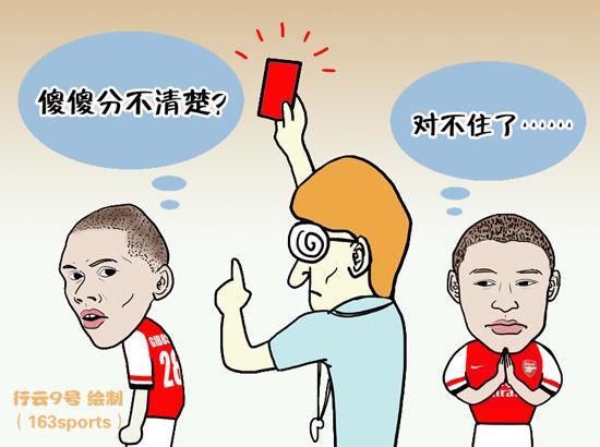 漫画:裁判摆乌龙 吉布斯为张伯伦背锅