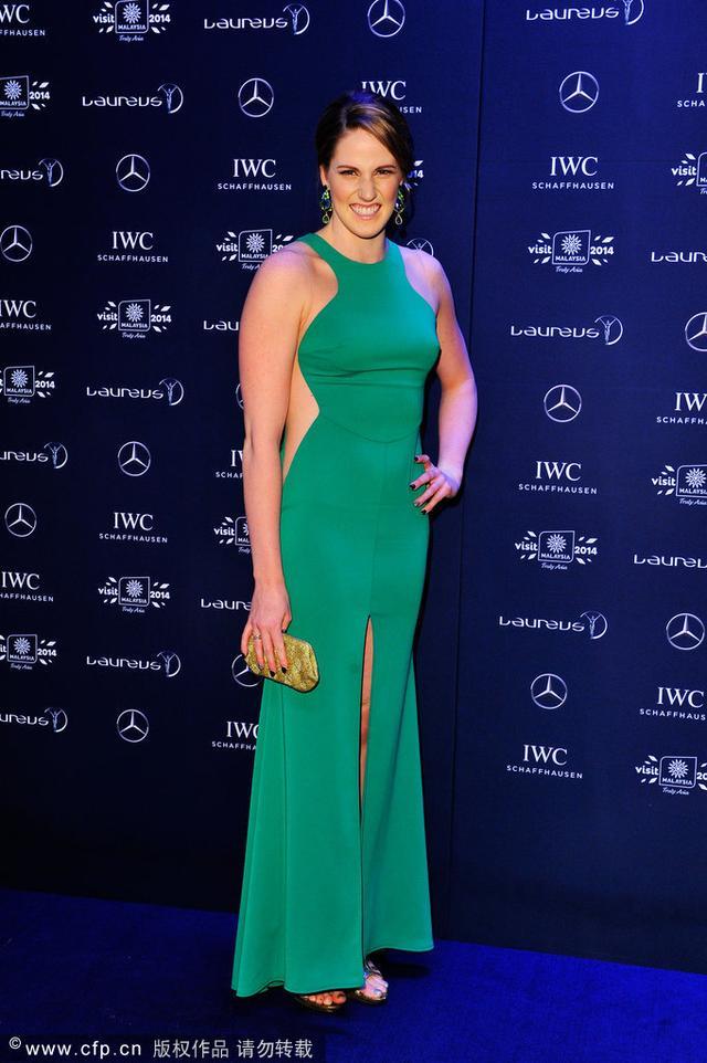 2014劳伦斯奖颁奖 美国泳将荣膺最佳女运动员