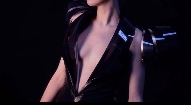 穿戴式裙装:心跳加速就变透明