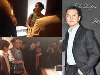 组图:王菲休闲装扮亮相 支持前夫李亚鹏展览