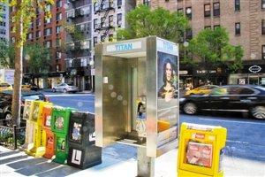 """纽约欲改公用电话亭为""""wifi信息亭"""""""