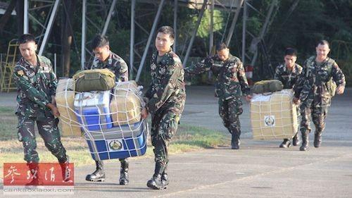 菲媒:中国舰船在仁爱礁情况曝光 菲空投补给