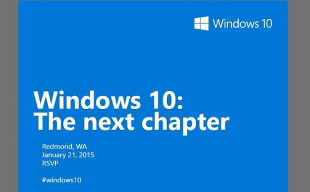 微软发邀请函:1月21日披露Win 10更多细节