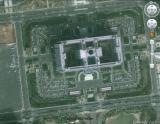 图为在google earth上显示的龙奥大厦俯瞰图。